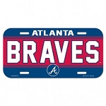 Atlanta Braves Licensed Plate