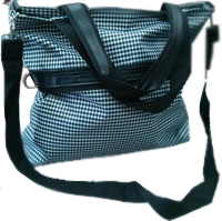 Houndstooth Zipper Tote Bags