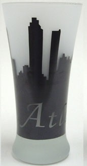 Atlanta Frosted Beer Glass (4pc)